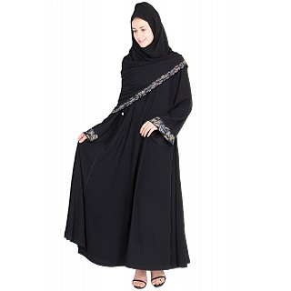 Umbrella Abaya with side button